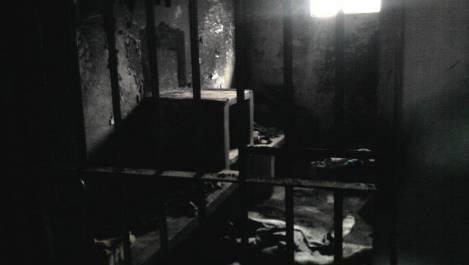 Celda donde murieron los cuatro pibes.